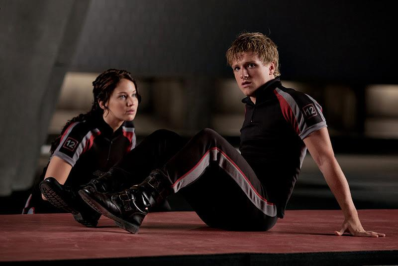 Katniss and Peeta training