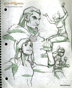 Legend of Korra development art