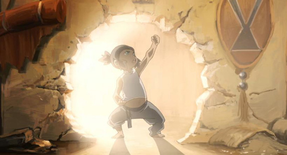 Korra as a toddler