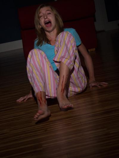 Audrey screams at the original Weird Girls photo shoot