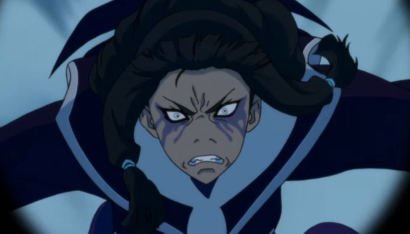 "Eska chases Team Avatar in ""The Legend of Korra"""