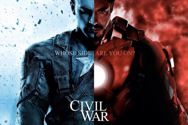 Captain America Civil War splash screen